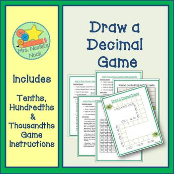 Decimal Games - Thousandths, Hundredths, Tenths