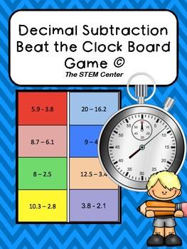 Decimal Subtraction Beat the Clock Game