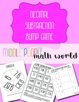 Decimal Subtraction Bump Game