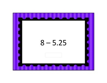 Decimal Subtraction Computation Boom Card Deck 1
