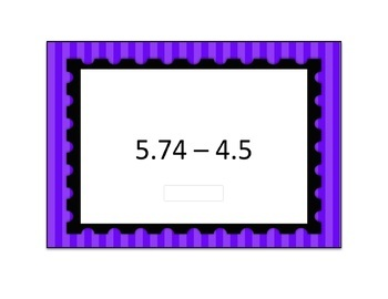 Decimal Subtraction Digital Boom Card 4 Deck Differentiation Bundle