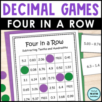 Decimal Subtraction Four in a Row Games