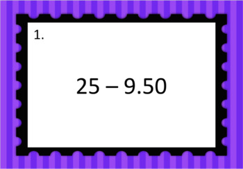 Decimal Subtraction Differentiated Word Problem Task Cards