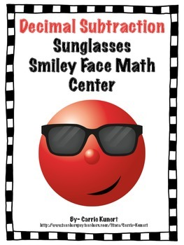 Decimal Subtraction and Comparing Smiley Face Math Center