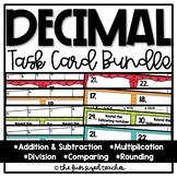 Decimal Operations Task Card Bundle