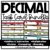 Decimal Operations Task Card Bundle