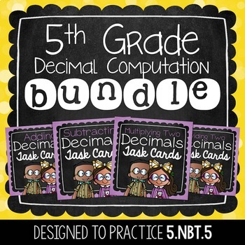 Decimal Task Card Bundle | 5th Grade