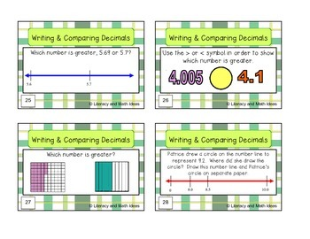 Decimal Task Card Bundle (These Teach and Review)