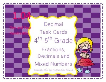 Decimal Task Cards-4th and 5th Grade