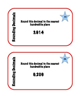 Decimal Task Cards --50 Task Cards to   Order/Compare/Identify Decimals
