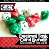 Decimal Task Cards Bundle   Math Workshop   Intervention  