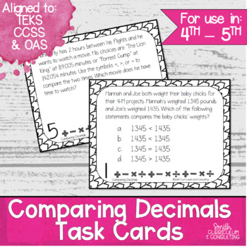 Decimal Task Cards Bundle | Math Workshop | Intervention | Test Prep