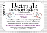 Decimal Task Cards- Comparing and Rounding Decimals to the