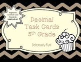 Decimal Task Cards Grade 5 - Centers, Review Game, or Test Prep