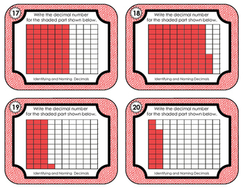 Decimal Task Cards • Identifying and Naming