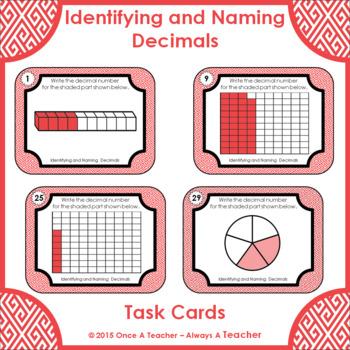 Decimal Task Cards • Identifying and Naming