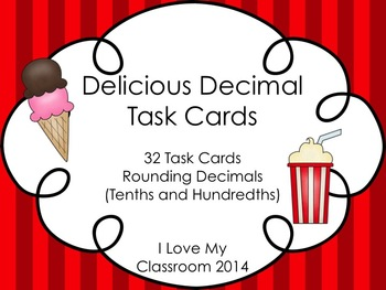 Decimal Task Cards {Rounding to Tenths and Hundredths}