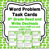 5th Grade Decimal Task Cards: Decimal Place Value {5.NBT.3}
