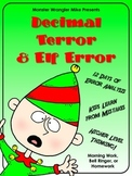 Decimal Terror and Elf Error: Error Analysis Task Cards