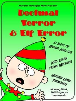 Decimal Terror and Elf Error: Error Analysis Task Cards