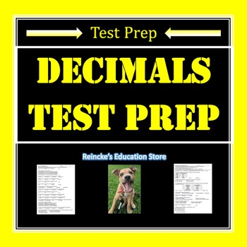 Decimal Test Prep (adding, subtracting, rounding, place value, and comparing)