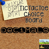 Decimal TicTacToe Choice Board Extension Activities