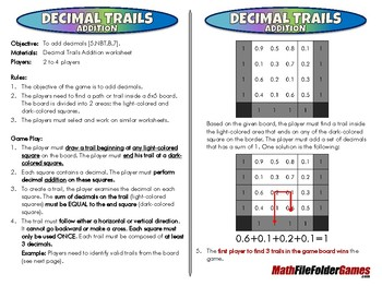 Decimal Trails - 5th Grade Game [CCSS 5.NBT.B.7]