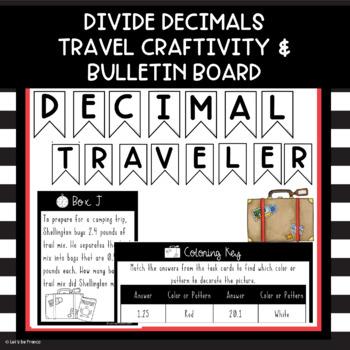 Decimal Traveler Divide Decimals Craftivity And Bulletin Board Tpt