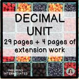 Decimal Unit - 29 pages of worksheets plus 4 pages of exte