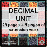 Decimal Unit - 29 pages of worksheets plus 4 pages of exte
