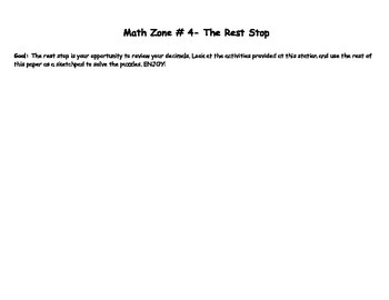 Decimal Unit- Math Zones