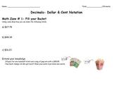 Decimal Unit- Math Zones