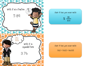 Decimal Value and Notation Task Cards