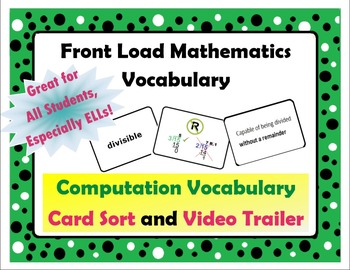 Decimal Vocabulary Card Sort and Trailer