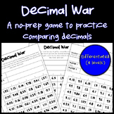 Comparing Decimals: Math Game (No Prep) (Differentiated) 4.NF.7