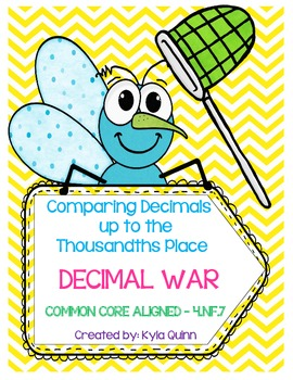 Decimal War-Comparing Decimals up to the Thousandths COMMON CORE ALIGNED 4.NF.7