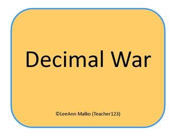 Decimal War - Fun Game