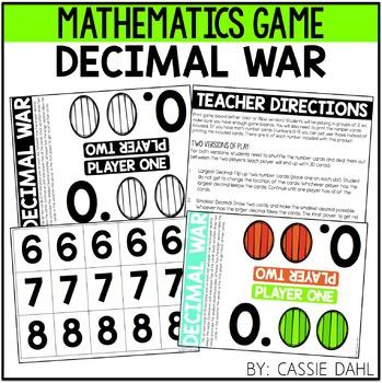 Decimal War Game