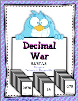 Decimal War To Thousandths
