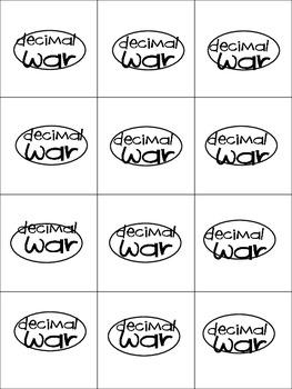 Decimal War (math game)