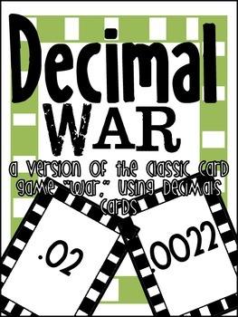 Decimal War - Decimal Card Game