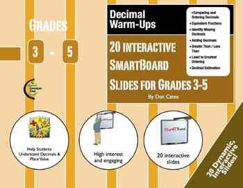 Decimal Warm-Ups: 20 Interactive SmartBoard Activities for Grades 3-5