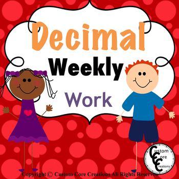 Decimal Weekly Work