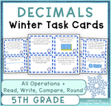 Decimals Word Problems: Winter Theme {BUNDLE}