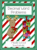 Decimal Word Problems