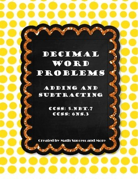 Decimal Word Problems (Addition and Subtraction)