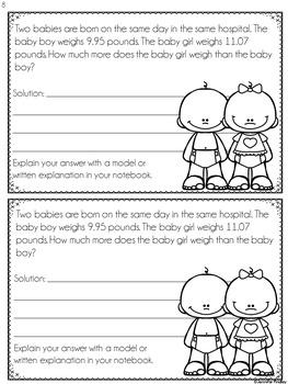 Decimal Word Problems (Interactive Notebook)