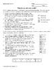 Decimal Word Problems Joke Sheet