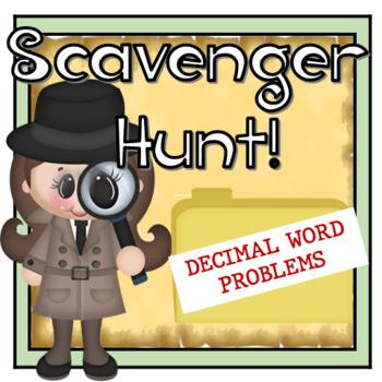 Decimal Word Problems Scavenger Hunt