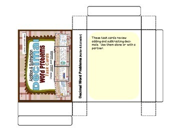 Decimal Word Problems Task Cards (Addition and Subtraction)